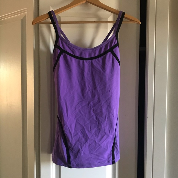 Lululemon Purple Black Strappy Tank Top